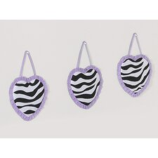 <strong>Sweet Jojo Designs</strong> Zebra Purple Collection Wall Hangings