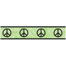 Peace Green Collection Wall Paper Border