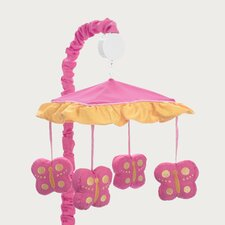 <strong>Sweet Jojo Designs</strong> Butterfly Pink and Orange Collection Musical Mobile