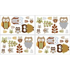Night Owl Collection Wall Decal Stickers