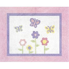 Butterfly Pink and Purple Collection Floor Rug
