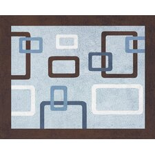 Geo Blue Collection Floor Rug