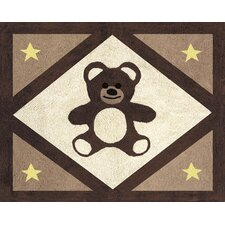 Teddy Bear Chocolate Collection Floor Rug