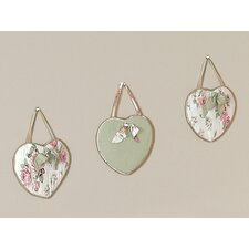<strong>Sweet Jojo Designs</strong> Riley's Roses Collection Wall Hangings (Set of 3)