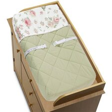 <strong>Sweet Jojo Designs</strong> Riley's Roses Collection Changing Pad Cover