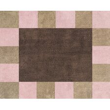 Soho Pink and Brown Collection Floor Rug