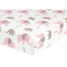 Elephant Fitted Crib Sheet