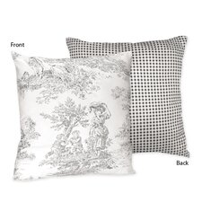 French Toile Decorative Pillow