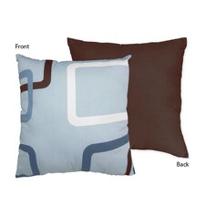 Geo Blue Decorative Pillow