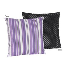Kaylee Decorative Pillow with Stripe and Dot Print