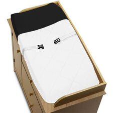 Hotel White and Black Collection Changing Pad Cover
