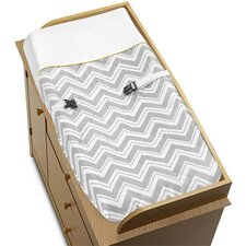 Zig Zag Yellow and Gray Collection Changing Pad Cover