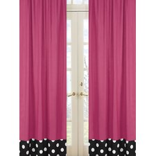 Hot Dot Rod Pocket Curtain Panel (Set of 2)