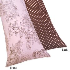 Pink and Brown Toile Body Pillowcase