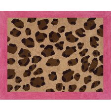 Cheetah Pink Collection Floor Rug