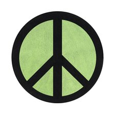 Peace Green Collection Floor Rug