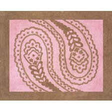 Pink Paisley Collection Floor Rug
