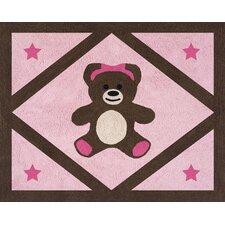 Teddy Bear Pink Collection Floor Rug