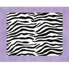 Zebra Purple Collection Floor Rug