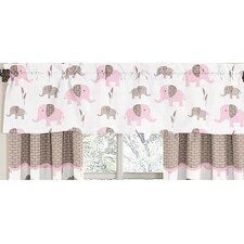 <strong>Sweet Jojo Designs</strong> Elephant Pink Cotton Curtain Valance