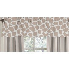 Giraffe Cotton Curtain Valance