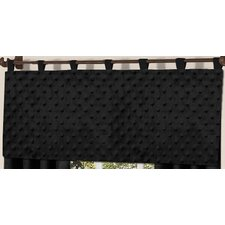 <strong>Sweet Jojo Designs</strong> Minky Dot Micro Suede and Plush Minky Curtain Valance