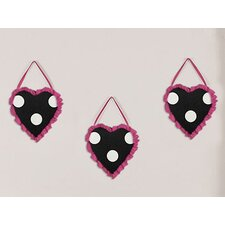 3 Piece Hot Dot Wall Hanging Art