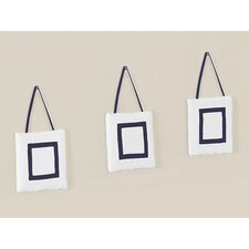 <strong>Sweet Jojo Designs</strong> Hotel White and Navy Collection Wall Hangings (Set of 3)