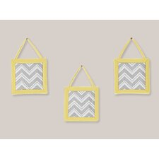 <strong>Sweet Jojo Designs</strong> Zig Zag Yellow and Gray Collection Wall Hangings (Set of 3)