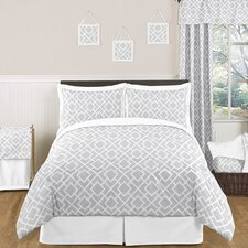 Gray and White Diamond Bedding Collection