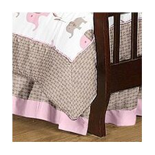 Elephant Pink Toddler Bed Skirt