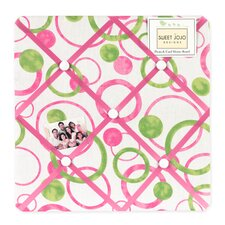 Circles Pink Collection Memo Board