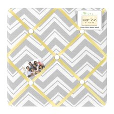 Zig Zag Yellow and Gray Collection Memo Board