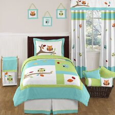 <strong>Sweet Jojo Designs</strong> Hooty Turquoise and Lime Bedding Collection