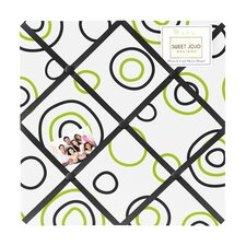 Lime and Black Spirodot Memo Board