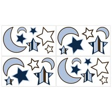 Starry Night Collection Wall Decal Stickers (Set of 4)