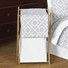 <strong>Sweet Jojo Designs</strong> Diamond Gray and White Laundry Hamper