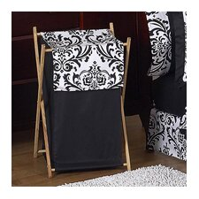 Black and White Isabella Collection Laundry Hamper