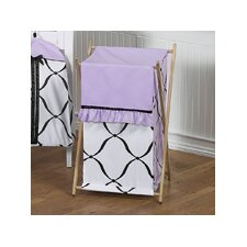 <strong>Sweet Jojo Designs</strong> Princess Black, White and Purple Laundry Hamper