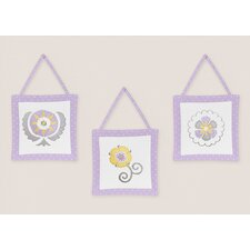 <strong>Sweet Jojo Designs</strong> Suzanna Wall Hangings 3 Piece Set