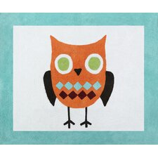Hooty Turquoise and Lime Floor Rug