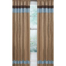 <strong>Sweet Jojo Designs</strong> Soho Blue and Brown Curtain Panel (Set of 2)