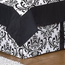 Black and White Isabella Collection Toddler Bed Skirt