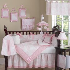 Toile French Crib Bedding Collection