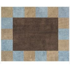 Soho Blue and Brown Collection Floor Rug