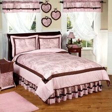 Pink and Brown Toile Kid Bedding Collection
