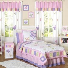 Butterfly Pink and Purple Kid Bedding Collection