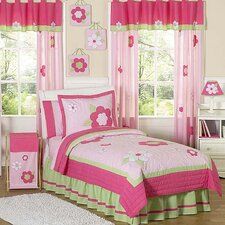<strong>Sweet Jojo Designs</strong> Flower Pink and Green Kid Bedding Collection