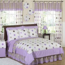 Mod Dots Purple Kid Bedding Collection