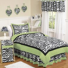 <strong>Sweet Jojo Designs</strong> Zebra Lime Kid Bedding Collection